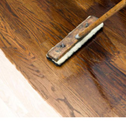 Hardwood Repair Including Custom Color Staining at Abbey Van Dam Carpet and More in Marrysville
